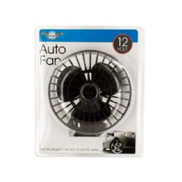 12 Units of 12 Volt Auto Fan with Suction Cup - Auto Accessories