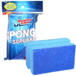 48 Units of 2 Pack Cellulose Sponge Scrubbers Scourer - Scouring Pads & Sponges