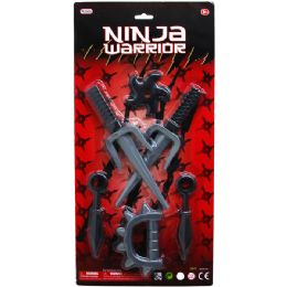 36 Units of 6pc Ninja Warrior Play Set In Blister Card - Action Figures & Robots