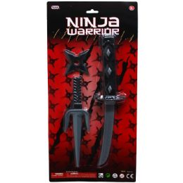 36 Units of Ninja Warrior Weapon Play Set - Toy Sets