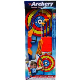 "12 Units of 22"" SUPER ARCHERY PLAY SET W/CARRYING CASE IN OPEN BOX - Toy Sets"
