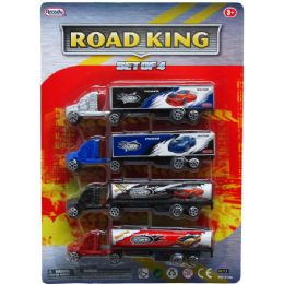 """72 Units of 4PC 6"""" ROAD KING MINI RIGS SET, IN BLISTER CARD, ASST DSGNS - Cars, Planes, Trains & Bikes"""