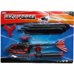 """36 Units of 12"""" ZOOM HELICOPTER W/PAL-SHOOTER IN BLISTER CARD, ASSORTED - Cars, Planes, Trains & Bikes"""