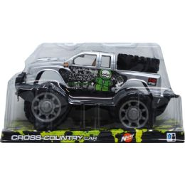 """24 Units of 9"""" F/F OFF ROAD TRUCK ON PLATFORM W/BLISTER COVER, ASSORTED - Cars, Planes, Trains & Bikes"""