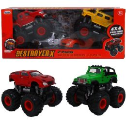 12 Units of 2PC F/F DESTROYER TRUCKS W/EXTRA SNAP-ON BODIES WINDOW BOXED - Cars, Planes, Trains & Bikes