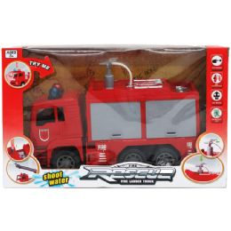 """12 Units of 10"""" F/F FIRE TRUCK W/SHOOTING WATER IN WINDOW BOX - Cars, Planes, Trains & Bikes"""