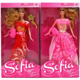 "48 Units of 12"" Sofia Doll W/beauty Access. In Window Box - Dolls"