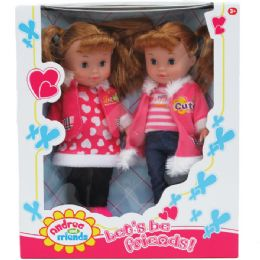 "12 Units of 2pc 10"" Andrea And Friends Doll Set In Window Box - Dolls"