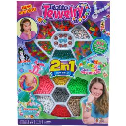 16 Units of 2in1 Beads Play Set In Window Box - Girls Toys