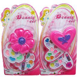 36 Units of 2 LEVEL MAKE UP BEAUTY SET IN BLISTERED CARD, TWO ASSORTED - Toy Sets