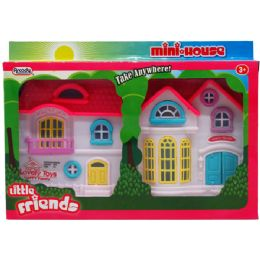 "48 Units of 9"" x 5.5"" HAPPY FAMILY MINI HOUSE IN WINDOW PEGABLE BOX - Toy Sets"