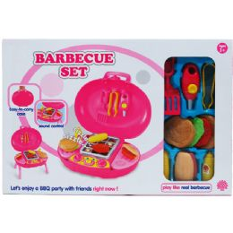 6 Units of 12 PC JUMBO TOY BARBECUE PLAY SET IN COLOR BOX, ASSORTED. - Toy Sets