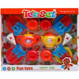 12 Units of 24PC TEA PLAY SET IN WINDOW BOX - Toy Sets