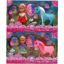 24 Units of DOLL WITH PONY AND PETS WITH ACCESSORIES IN WINDOW BOX ASSORTED - Dolls