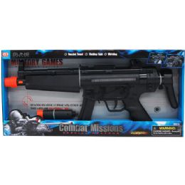 """24 Units of 19"""" B/O TOY MACHINE GUN W/LIGHT & SOUND IN OPEN BOX - Toy Weapons"""