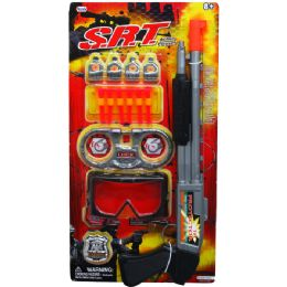 """24 Units of 18"""" SOFT DART TOY SHOOT GUN SRT(NEW) PLAY SET TIED ON CARD - Toy Weapons"""