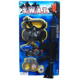 """24 Units of 22"""" M16 ASSAULT TOY RIFLE(S.W.AT.) PLAY SET TIED ON CARD - Toy Weapons"""