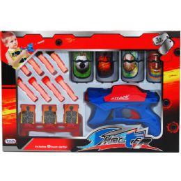 "12 Units of 7"" FOAM DART SHOOTER W/SEVEN TARGETS IN WINDOW BOX - Toy Weapons"