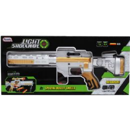 "12 Units of 16"" B/O SPACE MACHINE GUN W/LIGHT & SOUND IN WINDOW BOX - Toy Weapons"