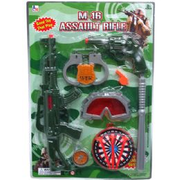 """24 Units of 16"""" M16 MILITARY ASSAULT TOY RIFLE W/ACCSS IN BLISTER CARD - Toy Weapons"""