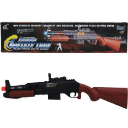 """48 Units of 22"""" B/O TOY RIFLE W/LIGHT & SOUND IN COLOR BOX - Toy Weapons"""
