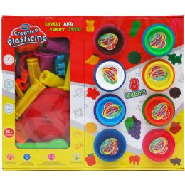 18 Units of CREATIVE PLASTICINE PLAY SET IN COLOR WINDOW BOX - Clay & Play Dough