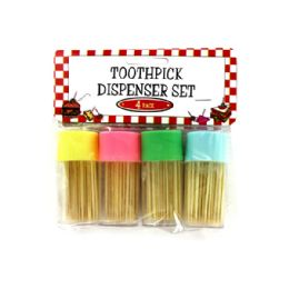 72 Units of Toothpick Dispenser Set - Toothpicks