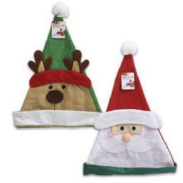 96 Units of Santa And Reindeer Hats 2 Assorted - Christmas Novelties