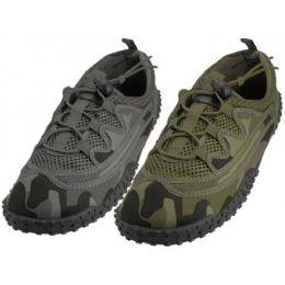 "36 Units of Men Camouflage Lace Up ""wave"" Water Shoes - Men's Aqua Socks"