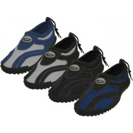 "36 Units of Men's ""wave"" Water Shoes In Assorted Colors - Men's Aqua Socks"