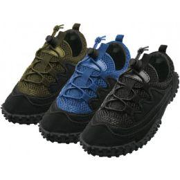 "36 Units of Men's Lace Up ""wave"" Water Shoes - Men's Aqua Socks"