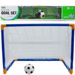 24 Units of 2PC 25L*18H SOCCER PLAY SET IN COLOR BOX - Sports Toys