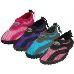 """36 Units of Women's """"wave"""" Aqua Socks In Assorted Colors - Women's Aqua Socks"""