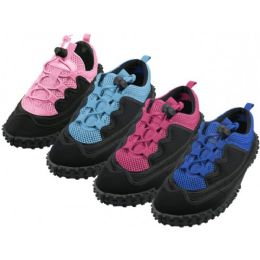"36 Units of Women's Lace Up ""Wave"" Water Shoes - Women's Aqua Socks"