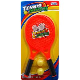 "24 Units of 2PC 19"" RACKET TENNIS PLAY SET IN BLISTER CARD - Sports Toys"