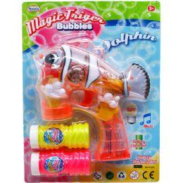 "36 Units of 7"" B/O FISH BUBBLE GUN W/SOUND & LIGHT IN BLISTER CARD ASSTD - Bubbles"