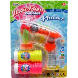 "36 Units of 6"" B/O FISH BUBBLE GUN W/SOUND & LIGHT IN BLISTER CARD ASSTD - Bubbles"