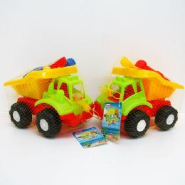 24 Units of BEACH TOY TRUCK WITH ACCESORIES - Beach Toys
