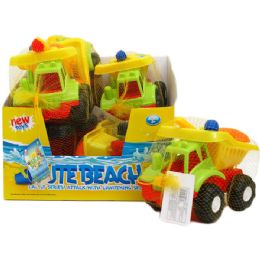 16 Units of BEACH TOY TRUCK W/ACCSS IN NET BAG & DISPLAY - Beach Toys