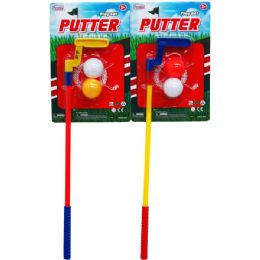 48 Units of MINI PUTTER PLAY SET IN BLISTER CARD - Summer Toys