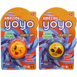48 Units of Lightup Amazing Yoyo In Blister Card - Light Up Toys