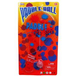 "96 Units of 10.5"" PADDLE BALL - Summer Toys"