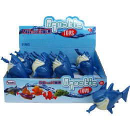 "72 Units of 6"" PULL STRING WATER TOYS(SHARK) IN DISPLAY - Summer Toys"