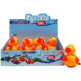 "48 Units of 6"" PULL STRING WATER TOYS(DUCK) IN 8PC DISPLAY BOX - Summer Toys"