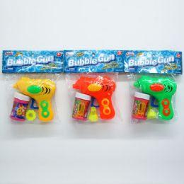 "48 Units of 4.25"" W/U BUBBLE GUN PLAYSET IN POLY BAG W/HEADER - Bubbles"
