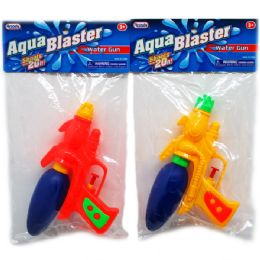 "72 Units of 7.5"" WATER GUN IN POLY BAG W/HEADER, ASST. COLORS - Summer Toys"