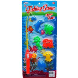 96 Units of Piece Fishing Game Set - Summer Toys