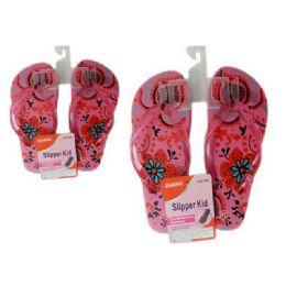 72 Units of Slipper For Girl 6asst Color size 6-10 - Girls Flip Flops