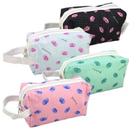 48 Units of Cosmetic Bag Assorted Colors - Cosmetic Cases