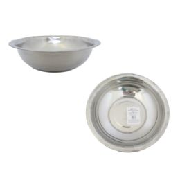 "96 Units of 11.2"" Stainless Steel Bowl - Plastic Bowls and Plates"